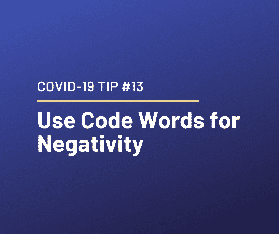 COVID-19 Relationship Tip #13